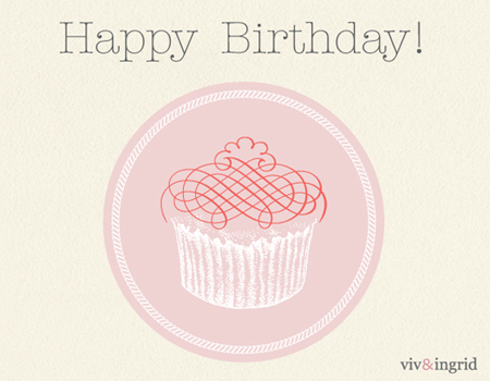 ECARD HappyBirthday Cupcake GENERAL